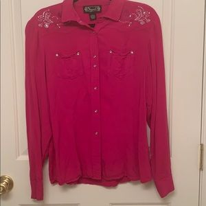 Pink Western Style Blouse